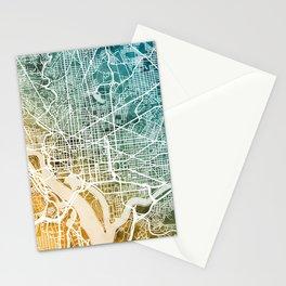 Washington DC Street Map Stationery Cards