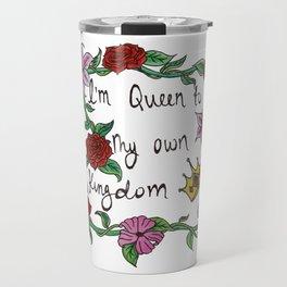 Queen Watercolor Travel Mug
