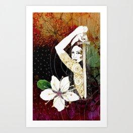 Blackthorn Plant Ally card Art Print
