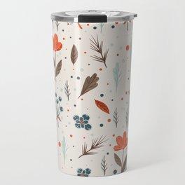Seamless Floral Pattern Travel Mug