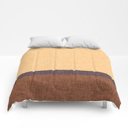 Simple Stripe Abstract with Burlap Pattern Comforters