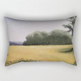 Autumn Field - Original Painting by Tracy Sayers Trombetta - Shades of Monet Rectangular Pillow
