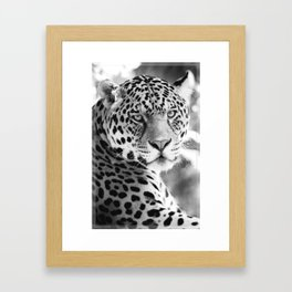Jaguar Leopard Cheetah T-shirt Animal Print Tee Feline Vibes Wild Free Spirit Framed Art Print