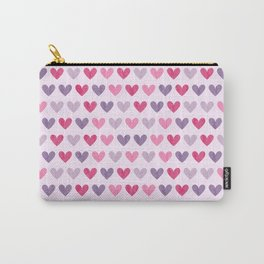 Colorful hearts V Carry-All Pouch