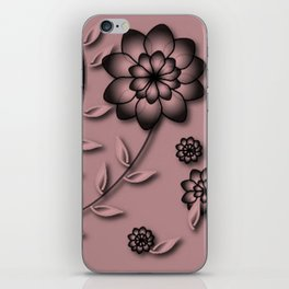 Bridal Rose Floral Abstract iPhone Skin
