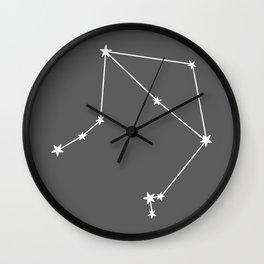 Libra (White & Grey Sign) Wall Clock