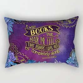 CP - Books Made Me Feel Not Alone (Purple) Rectangular Pillow