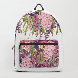 Hanging Flower Garden, Colorful, Floral Prints Backpack