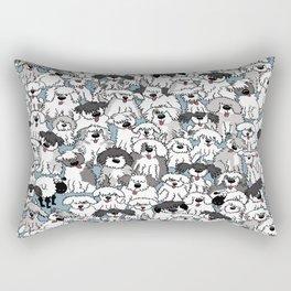 Aqua Dogs Rectangular Pillow