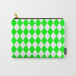 Rhombus (Green/White) Carry-All Pouch