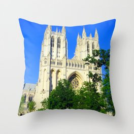 Washington National Cathedral Throw Pillow