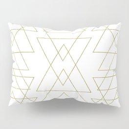 Modern White & Gold Geometric Pattern Pillow Sham