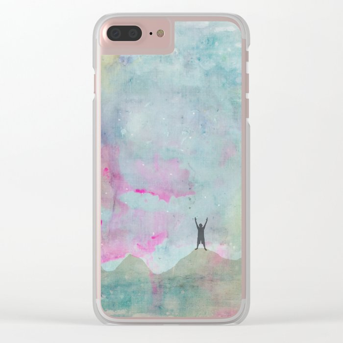 Never Give Up Clear iPhone Case