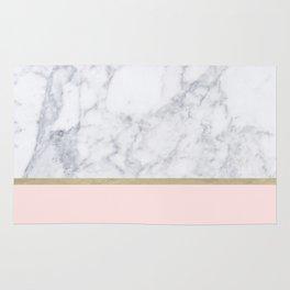 Marble Gold Blush Pink Pattern Rug