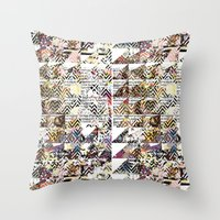 newspaper Throw Pillows featuring Newspaper by FakeFred