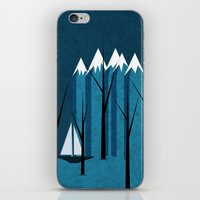 sailing iPhone & iPod Skins featuring Sailing by Illusorium
