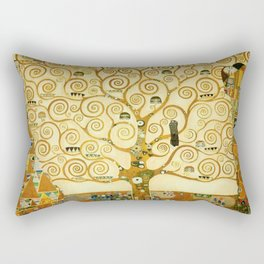 Gustav Klimt The Tree Of Life Rectangular Pillow