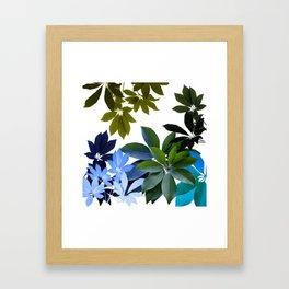 Leaves, Botaical Composition Framed Art Print