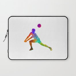 Volley ball player man 03 in watercolor Laptop Sleeve