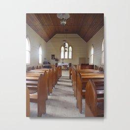 Church Pews Metal Print
