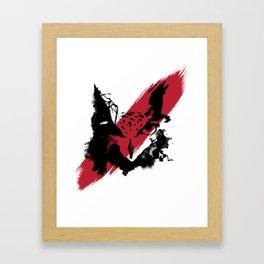 OWL FACE - BUBO² Framed Art Print