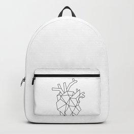 Black Geometric Heart Backpack