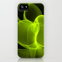 Green Energy, Abstract Fractal Art iPhone Case