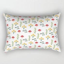 Whimsical Mushroom Garden Rectangular Pillow