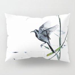 Little Bird (Wagtail - Eurasian Songbird) by The Reeds #decor #society6 #buyart Pillow Sham