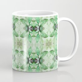 Green, taupe and beige Pattern 810 Coffee Mug
