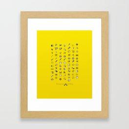 Designers Weapons Framed Art Print