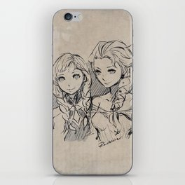 Frozen's Elsa and Anna iPhone Skin