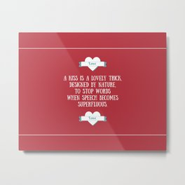 Saint Valentine's dedication Metal Print