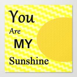 Sunshine - Typography Canvas Print