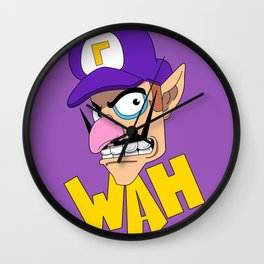 WAH! Waluigi Wall Clock