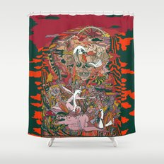 WIND THE SWAN Shower Curtain
