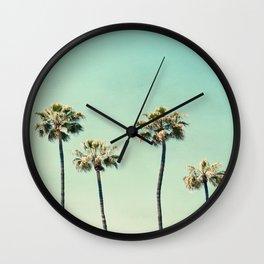 Palm Tree Photography Wall Clock