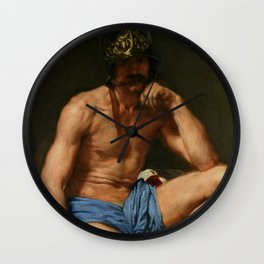 """Diego Velázquez """"Mars or Resting Mars (Descanso de Marte, literally The Rest of Mars)"""" Wall Clock"""