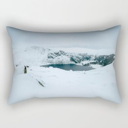 Lough Tay in winter time (RR 195) Rectangular Pillow