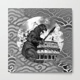 Godzilla World Tour Rome Metal Print
