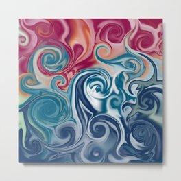 Fluids spirals Metal Print