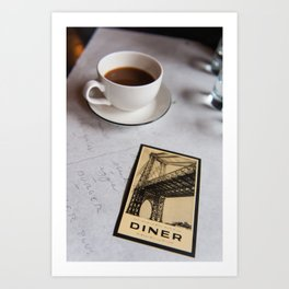 New York Diner Art Print