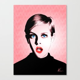 Twiggy - Pop Art Canvas Print