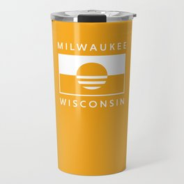 Milwaukee Wisconsin - Gold - People's Flag of Milwaukee Travel Mug