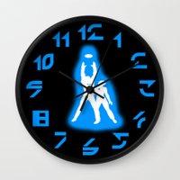 tron Wall Clocks featuring Tron by KewlZidane