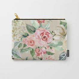 Multicolor Flower Pattern Carry-All Pouch