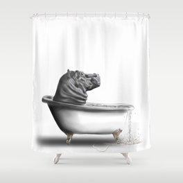 Hippo in Bath Duschvorhang