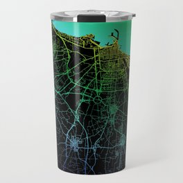 Bari, Italy, City, Map, Rainbow, Map, Art, Print Travel Mug
