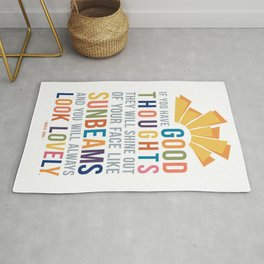 If You Have Good Thoughts Roald Dahl Quote Art Rug