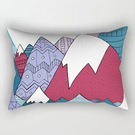 Blue Sky Mountains Rectangular Pillow